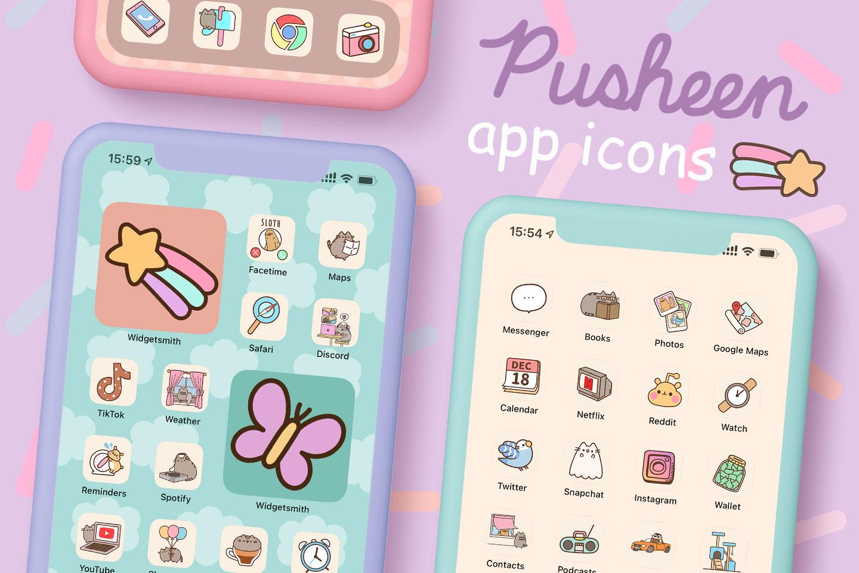 pusheen app icons pack