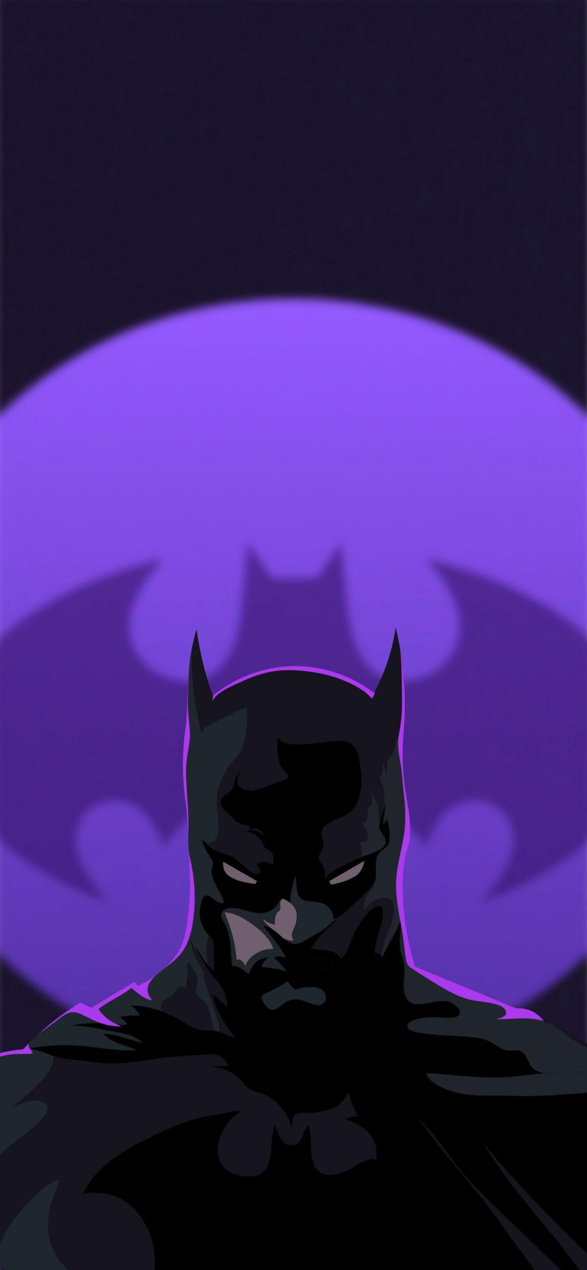 batman dark purple wallpaper