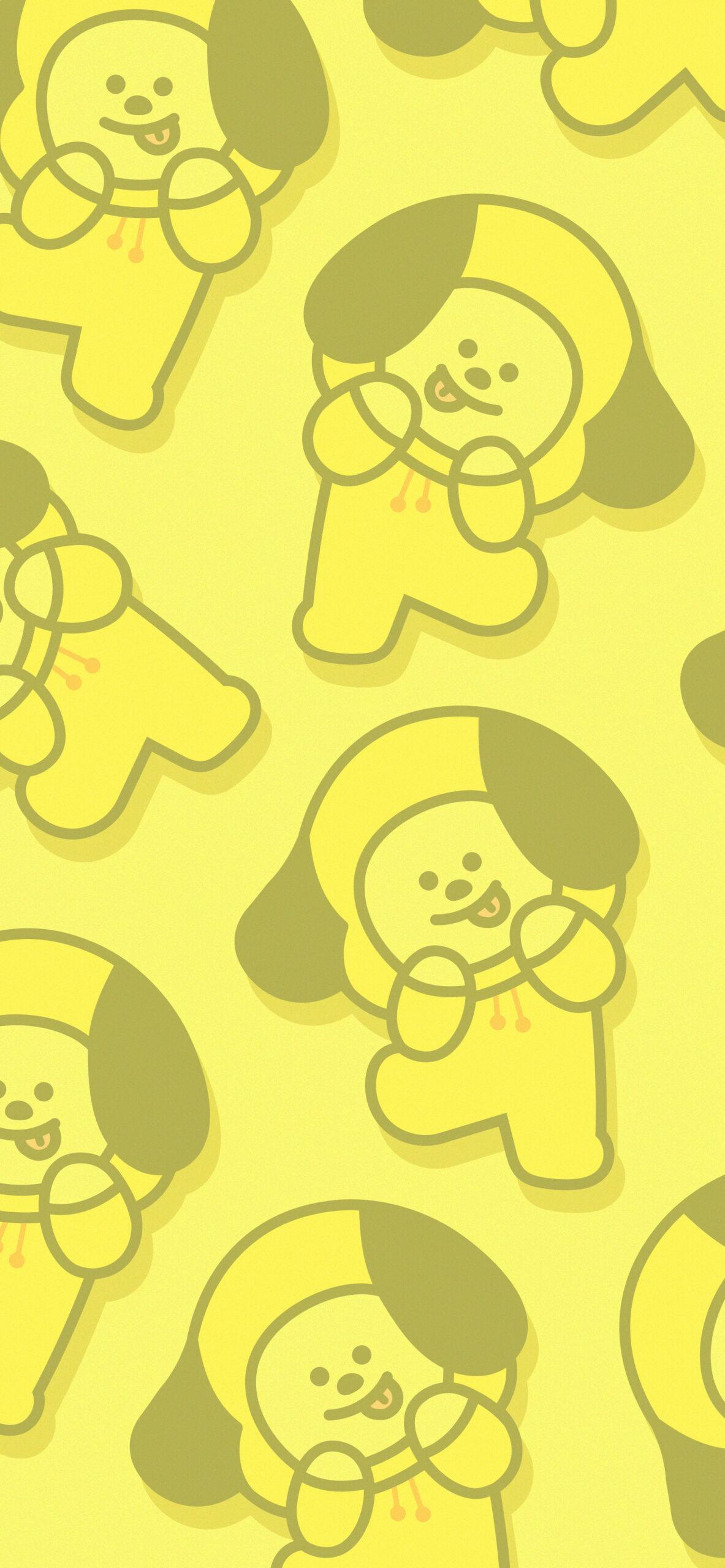bts bt21 chimmy yellow background 2