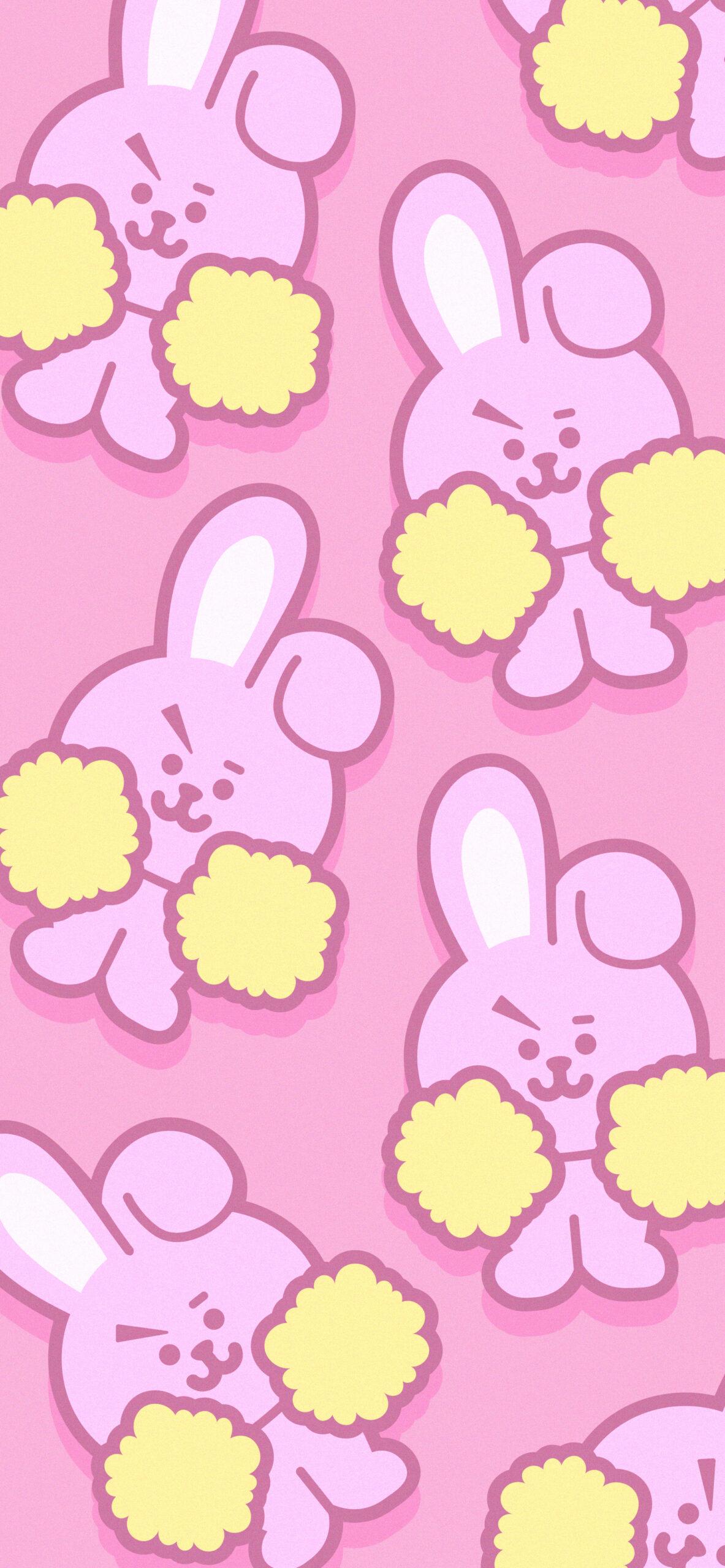 bts bt21 cooky pink background 2
