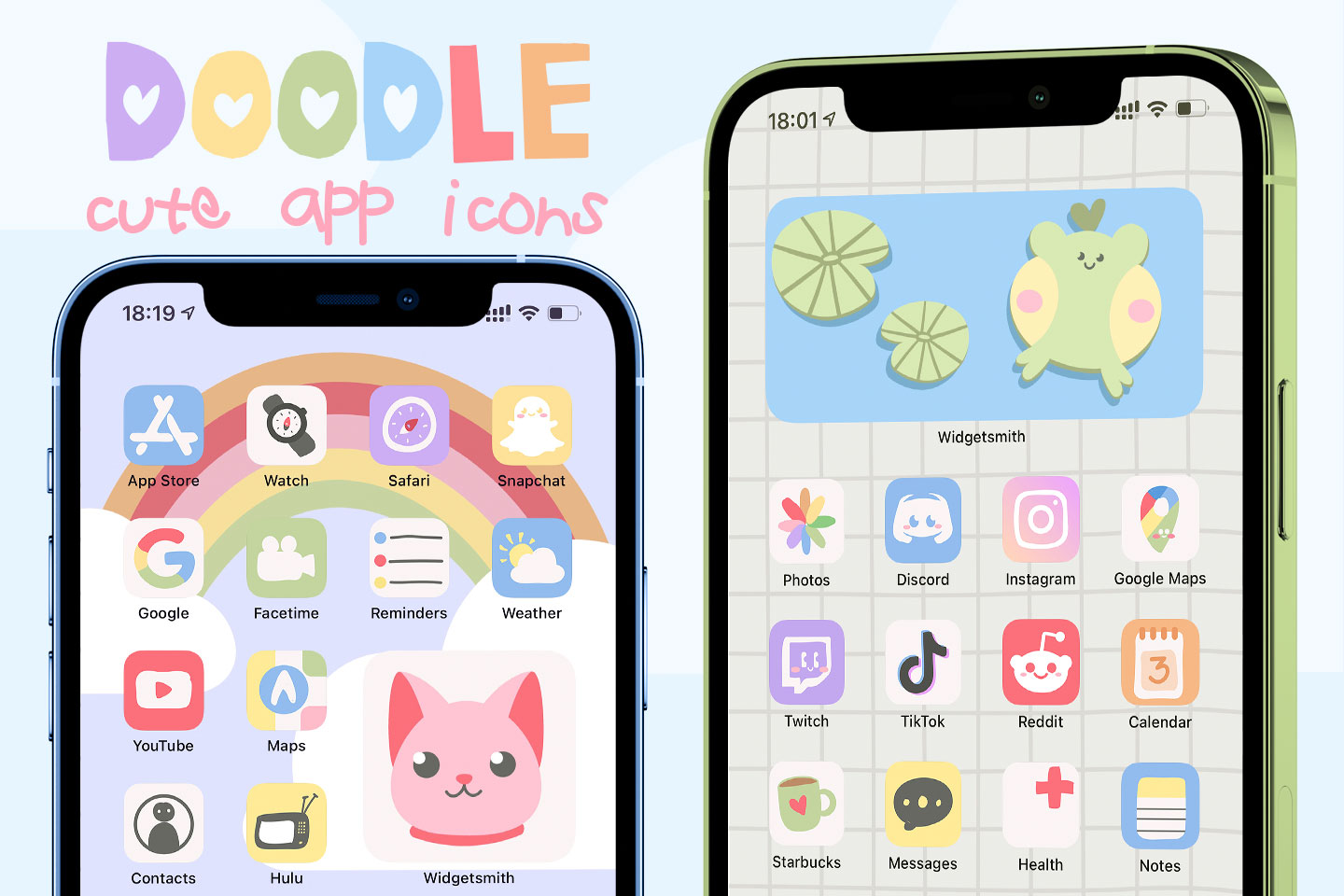 cute doodle app icons pack