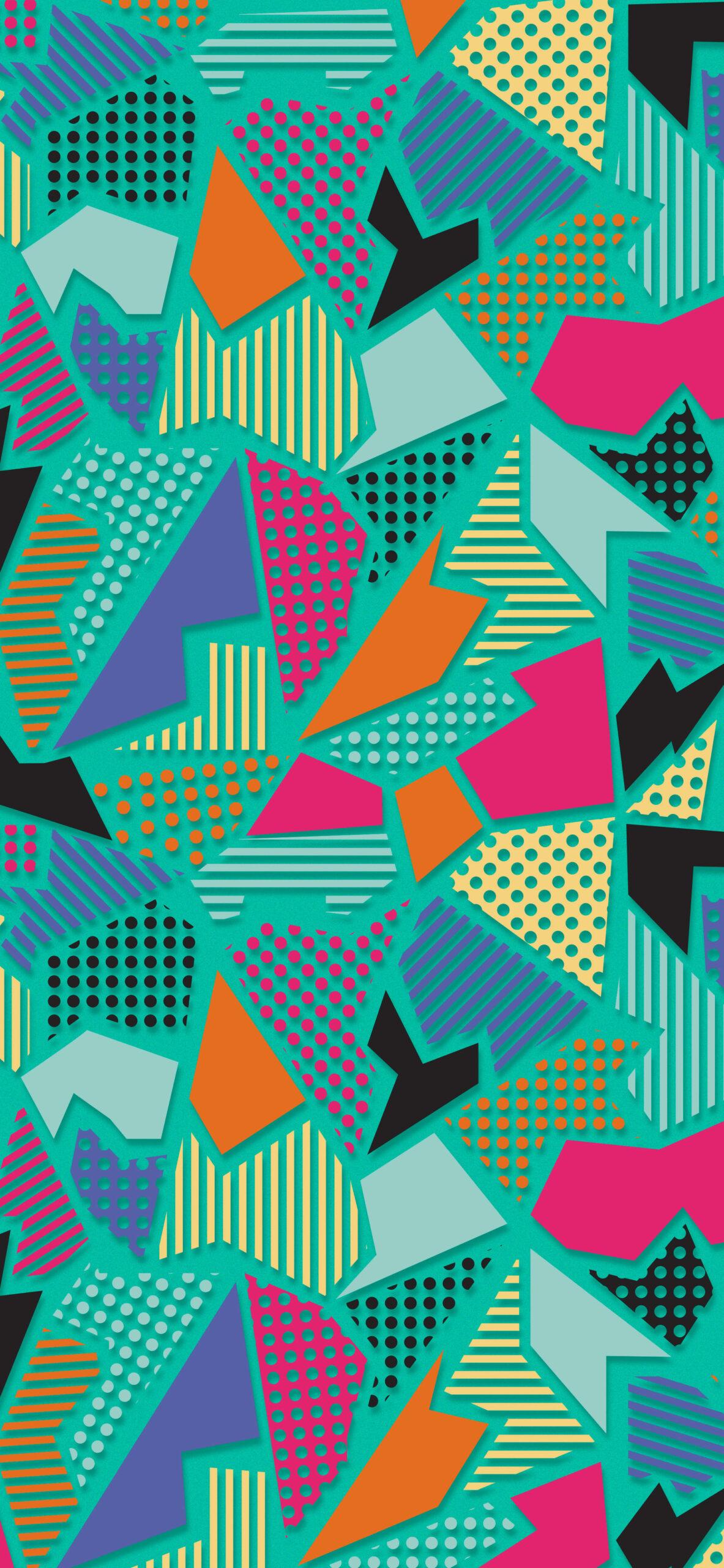 green abstract geometric wallpaper