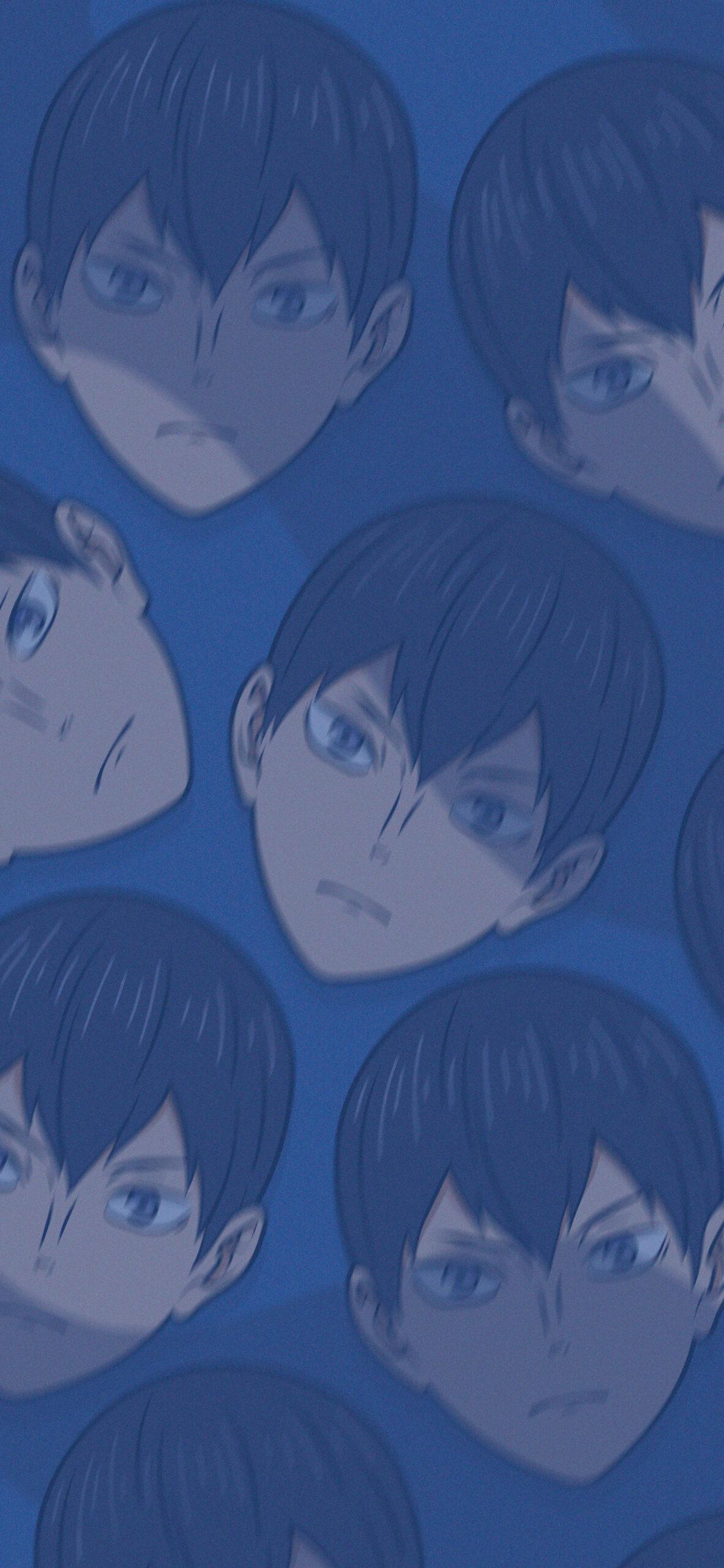 haikyuu tobio kageyama blue background