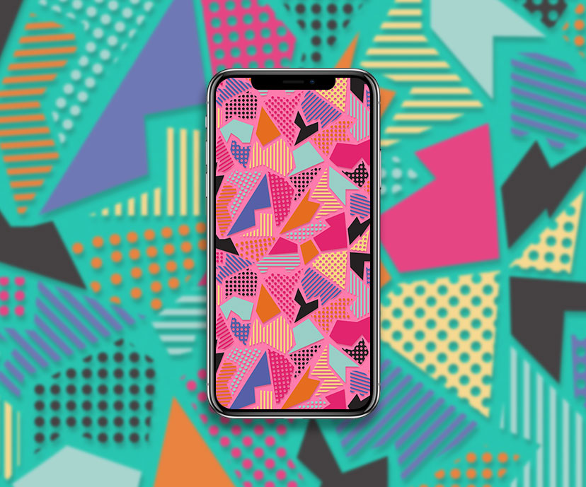 pink abstract geometric wallpapers collection