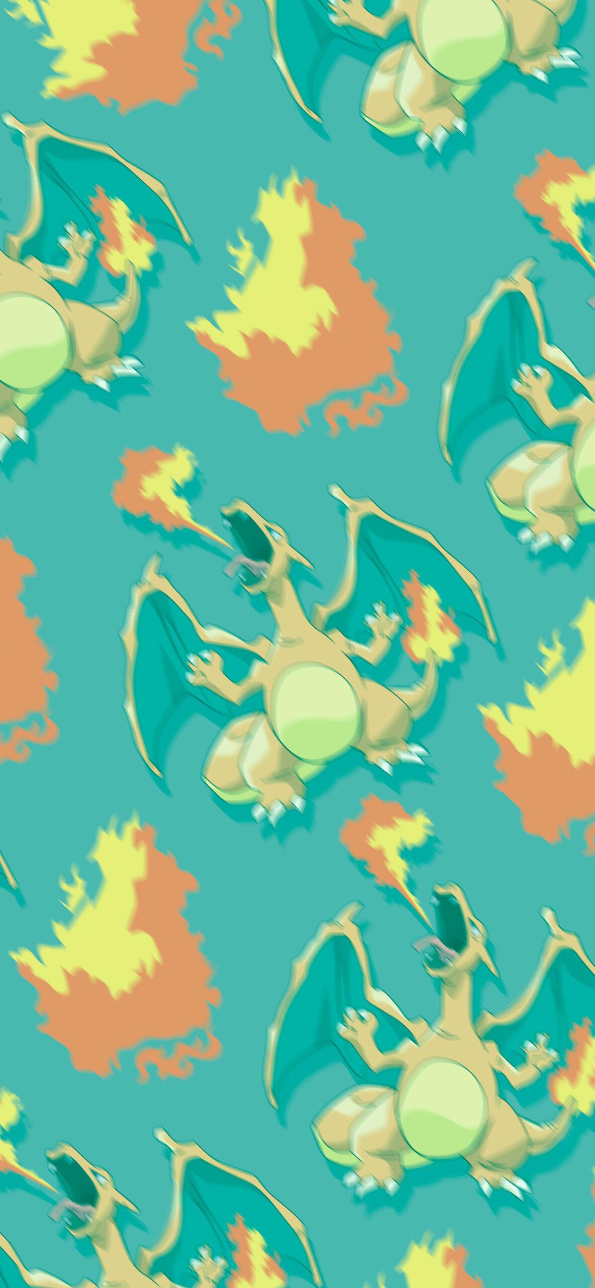 pokemon charizard green blur wallpaper