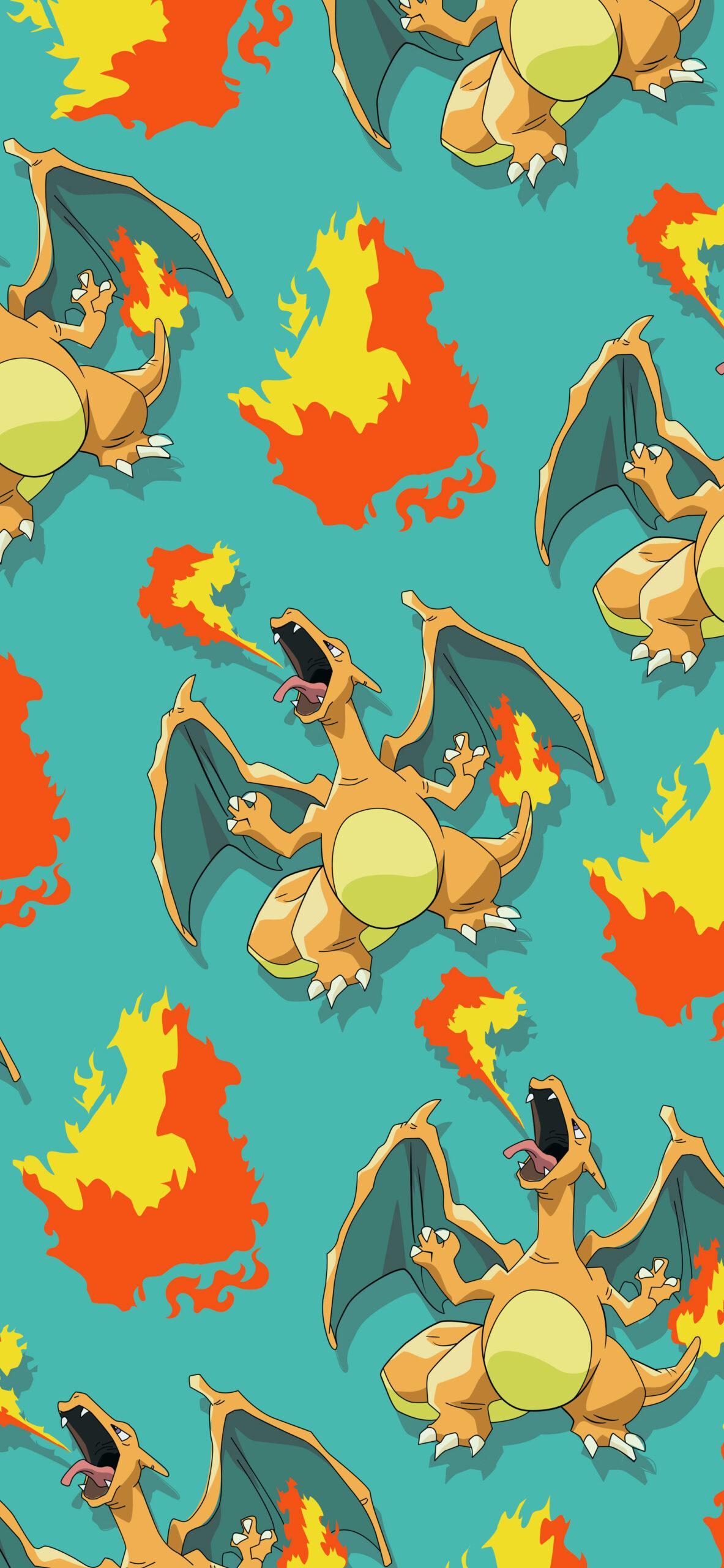 pokemon charizard green wallpaper