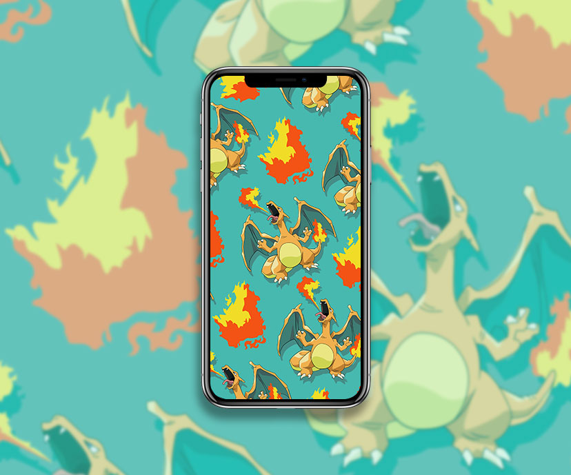 pokemon charizard green wallpapers collection