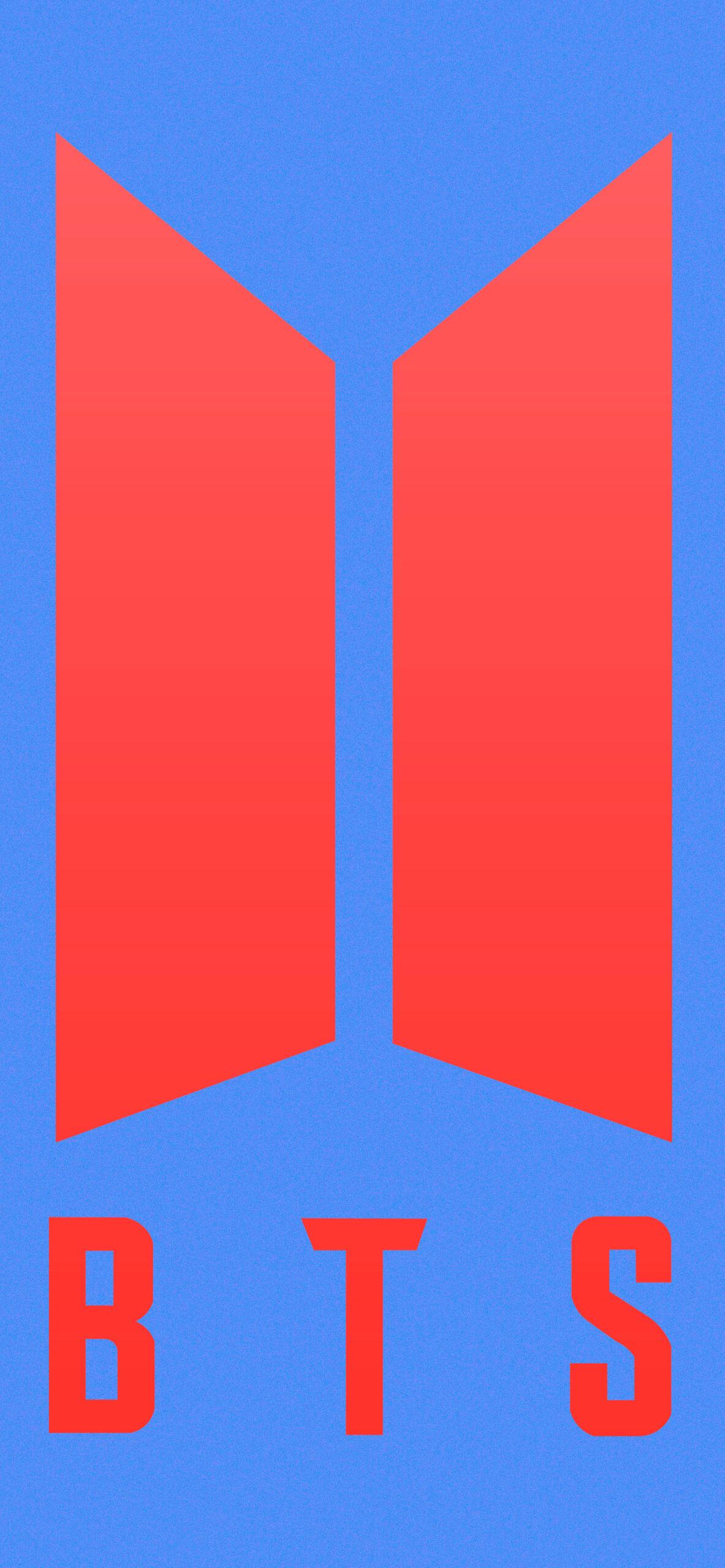 bts bt21 tata blue background