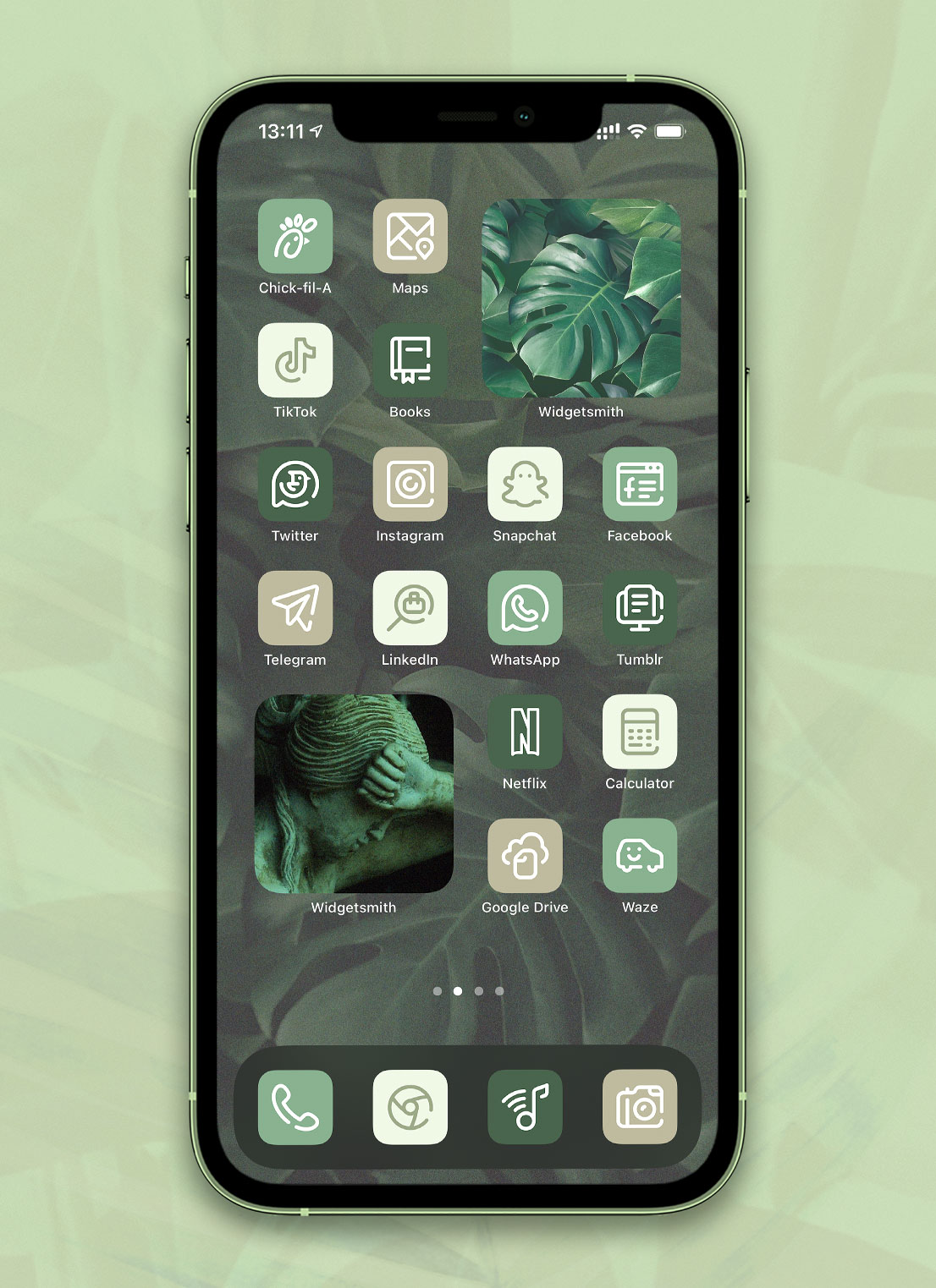 forest green app icons pack preview 3