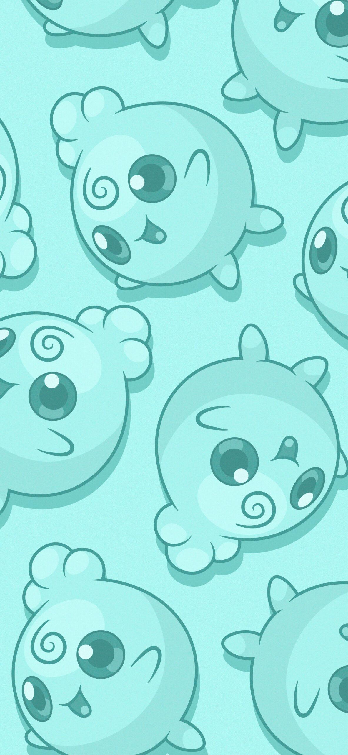pokemon igglybuff green background