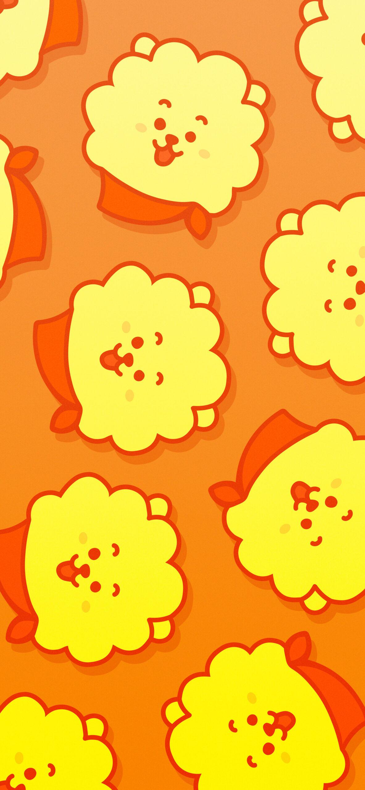 bts bt21 rj orange background 2