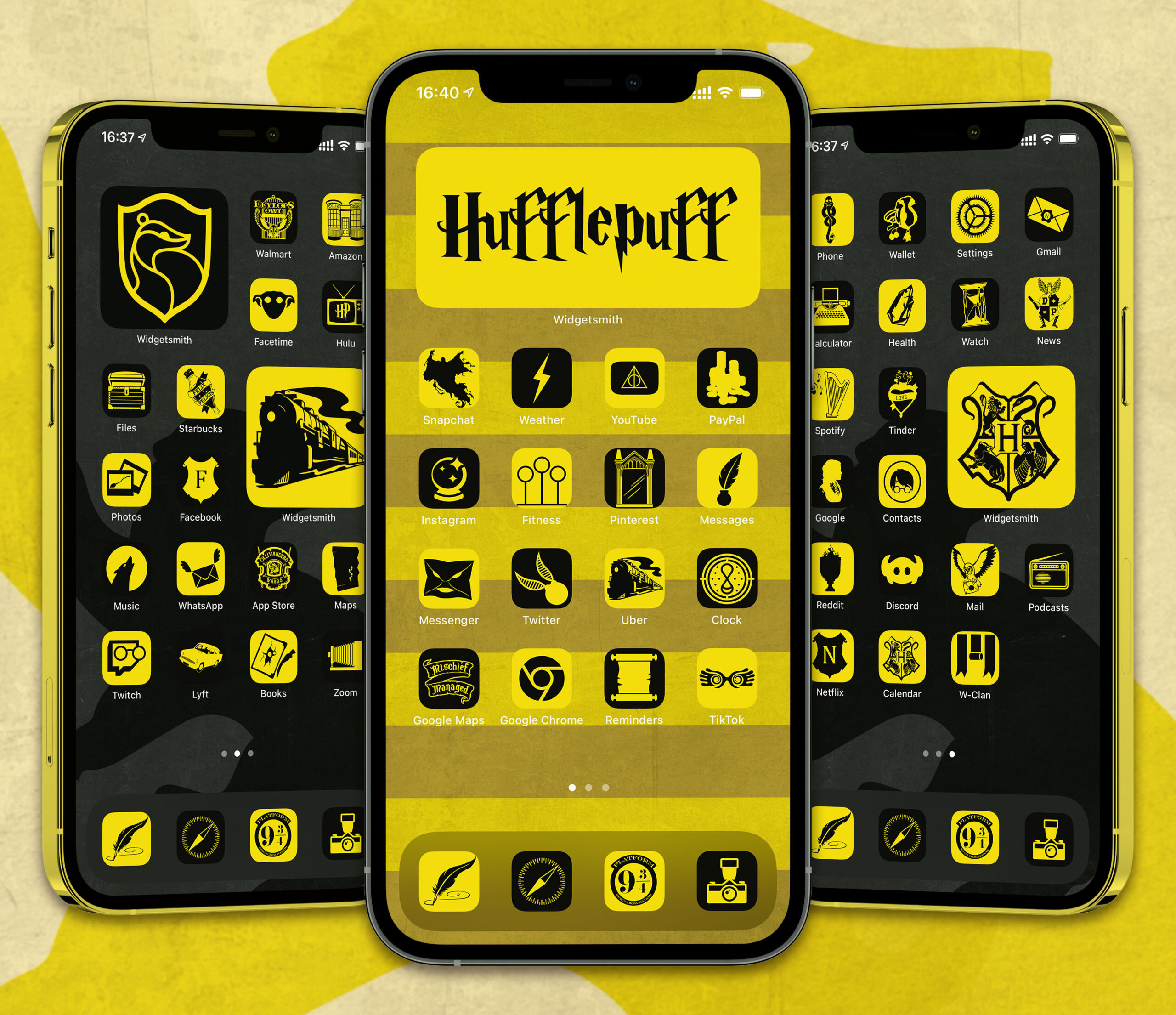harry potter hufflepuff app icons pack preview 1