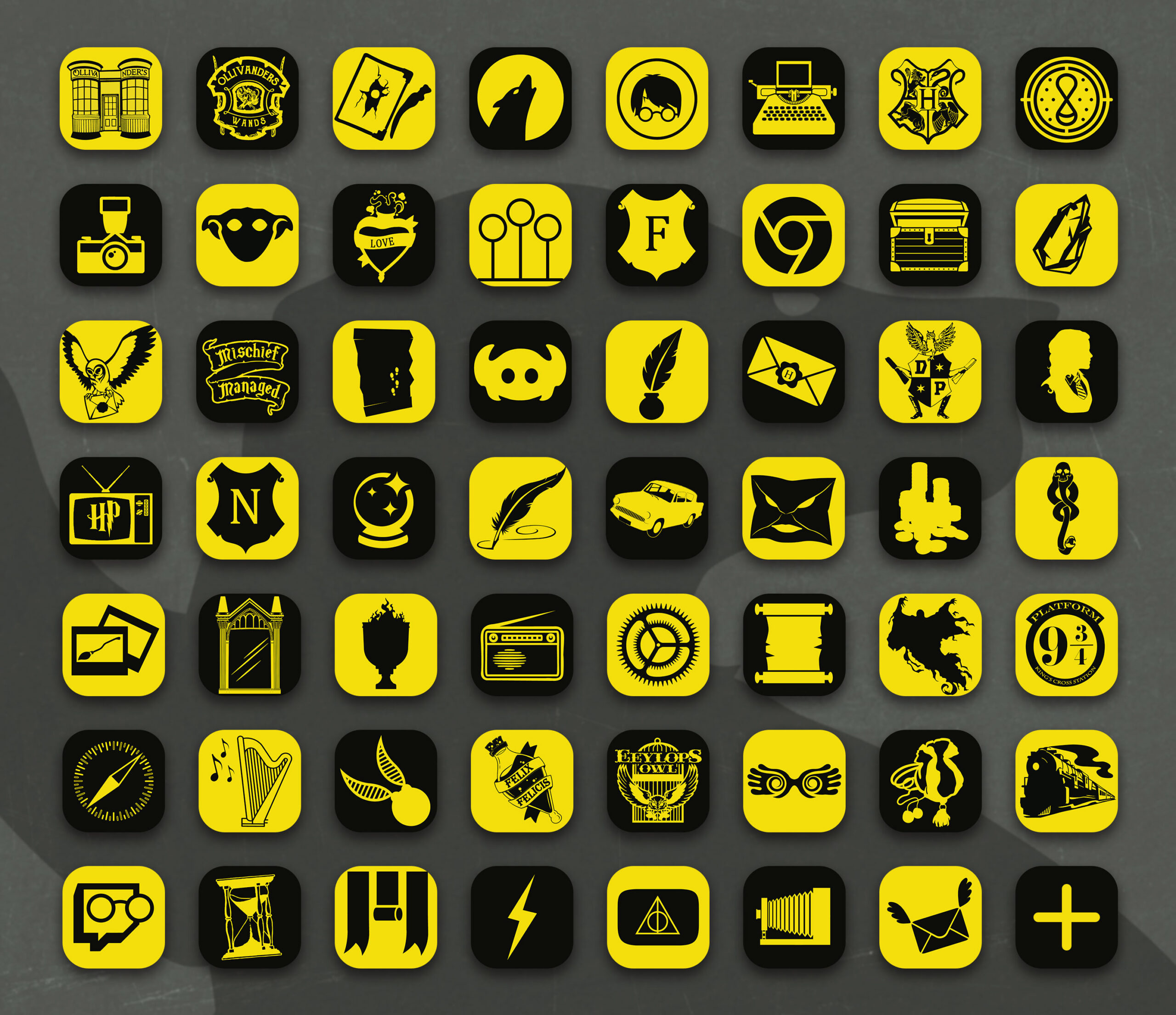 harry potter hufflepuff app icons pack preview 2