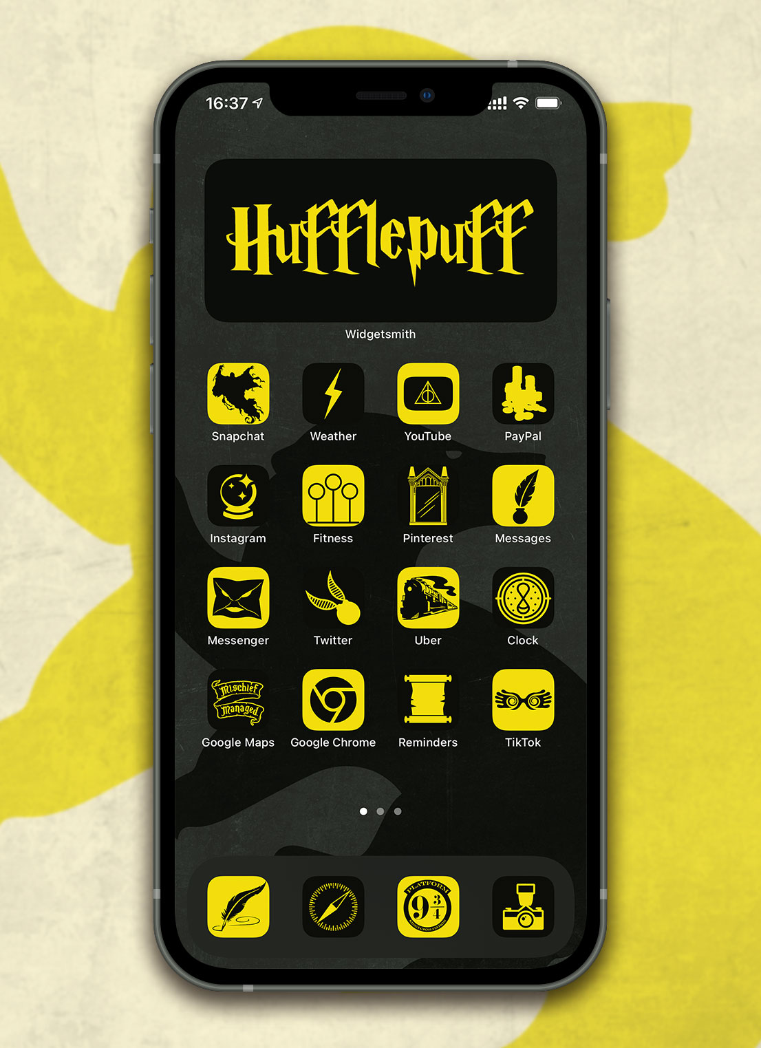 harry potter hufflepuff app icons pack preview 3