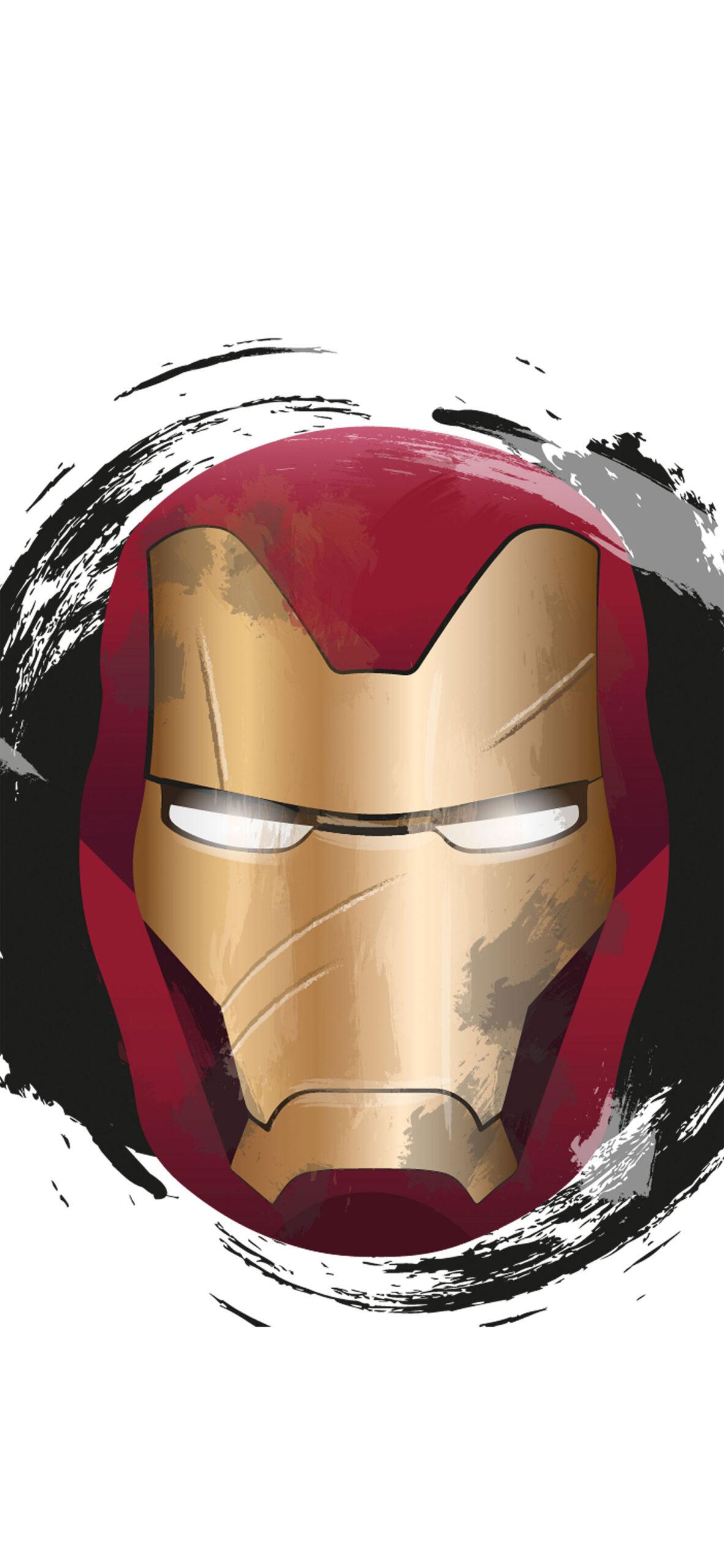 iron man helmet white wallpaper