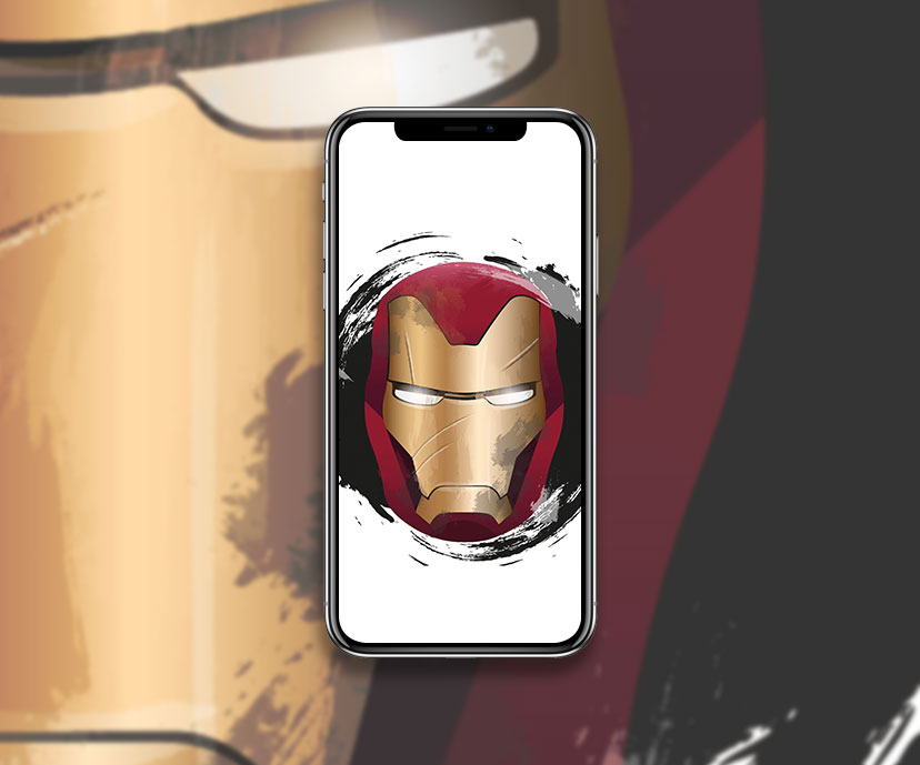 iron man helmet white wallpapers collection