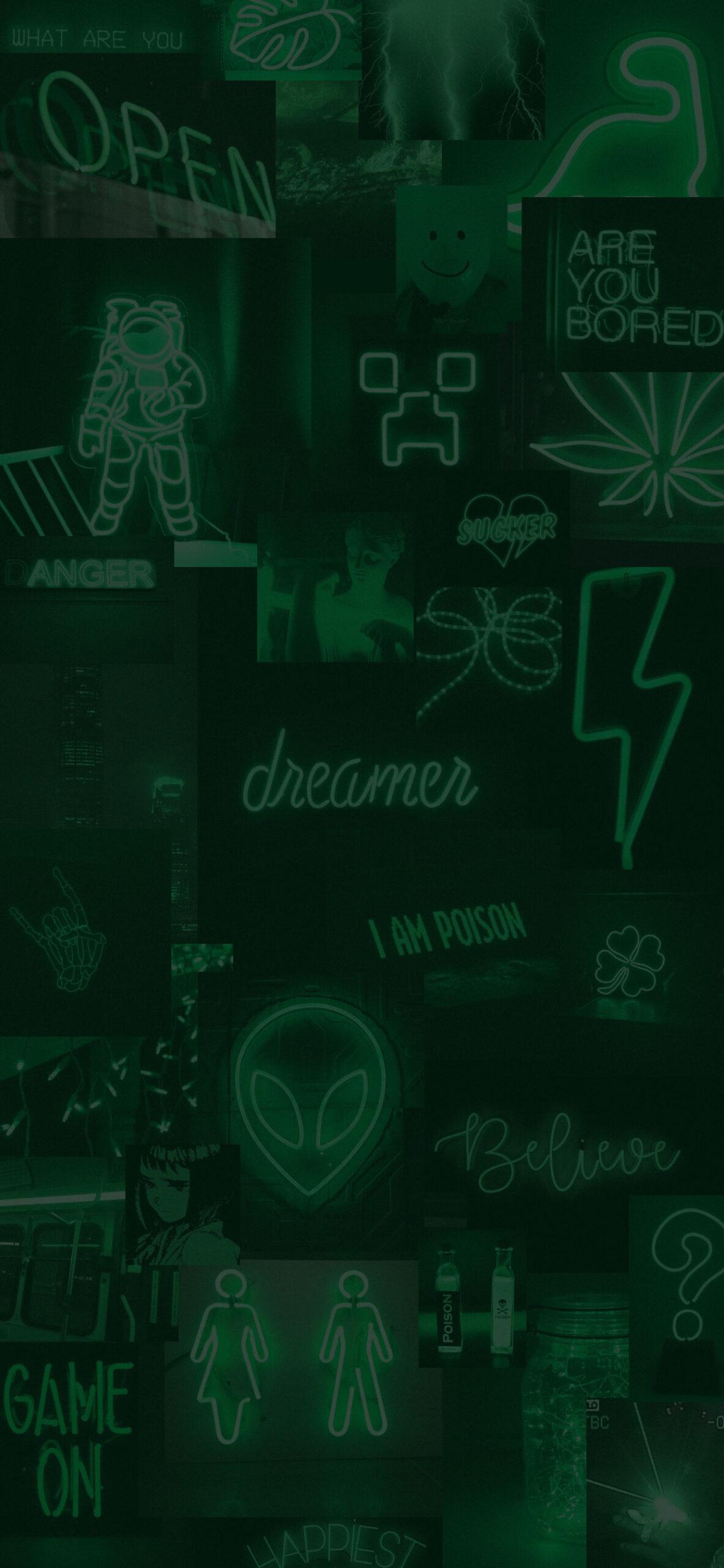 greeen neon aesthetic wallpaper 2