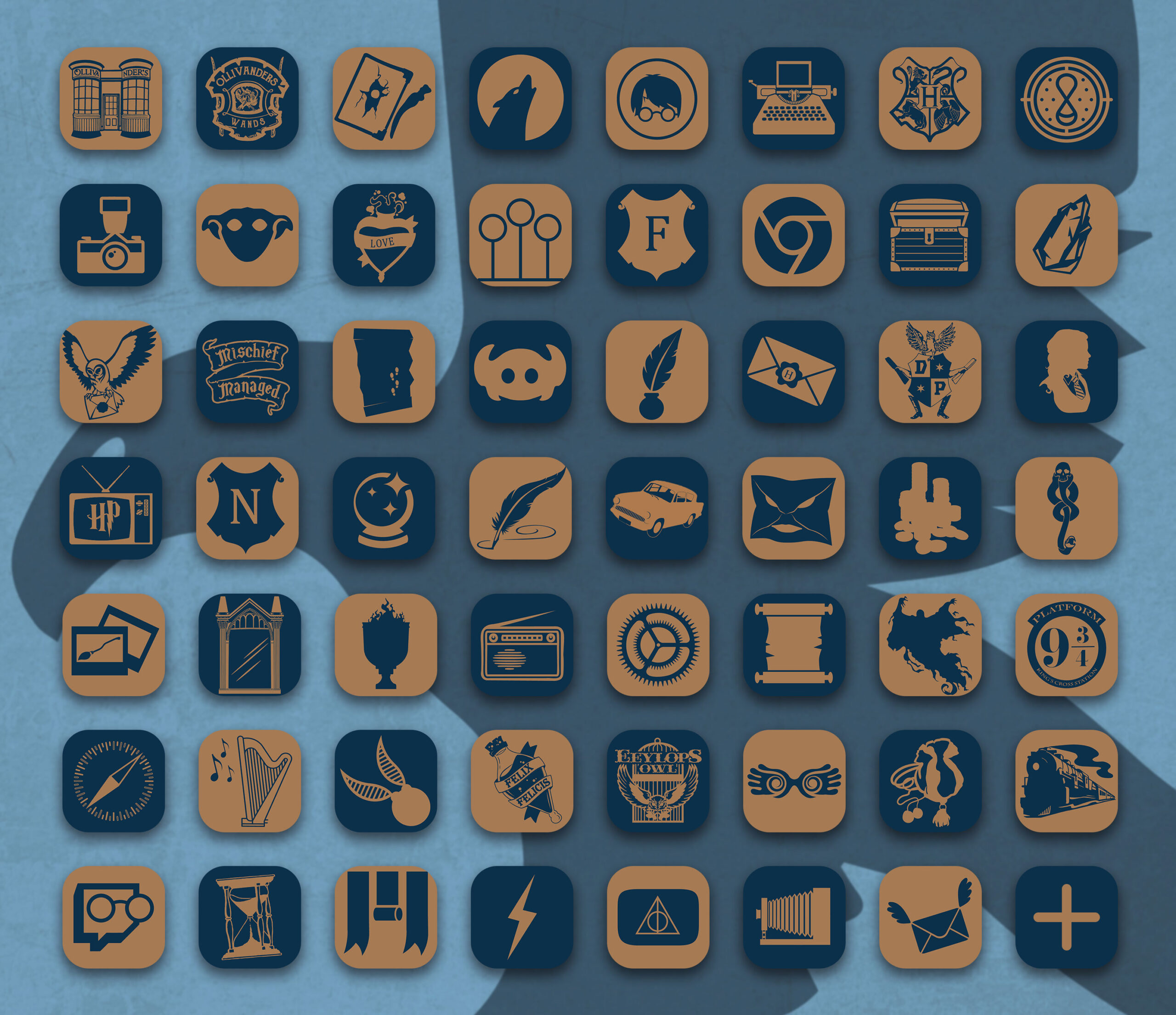 harry potter ravenclaw app icons pack preview 2