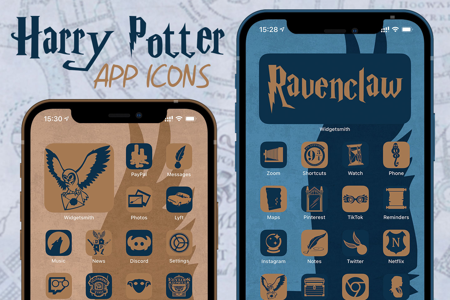 harry potter ravenclaw app icons pack