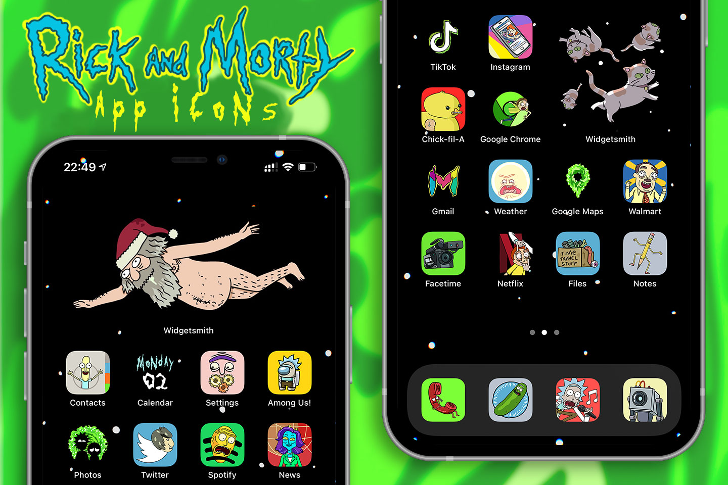 rick and morty app icons pack