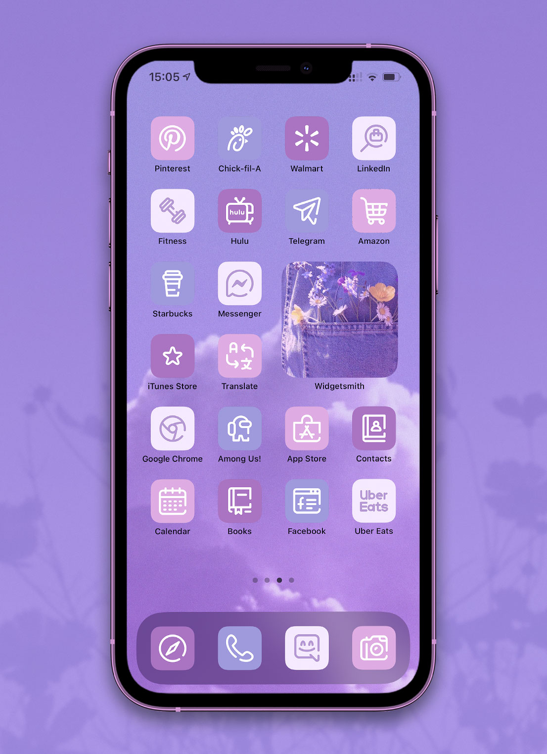 light lavender app icons pack preview 3