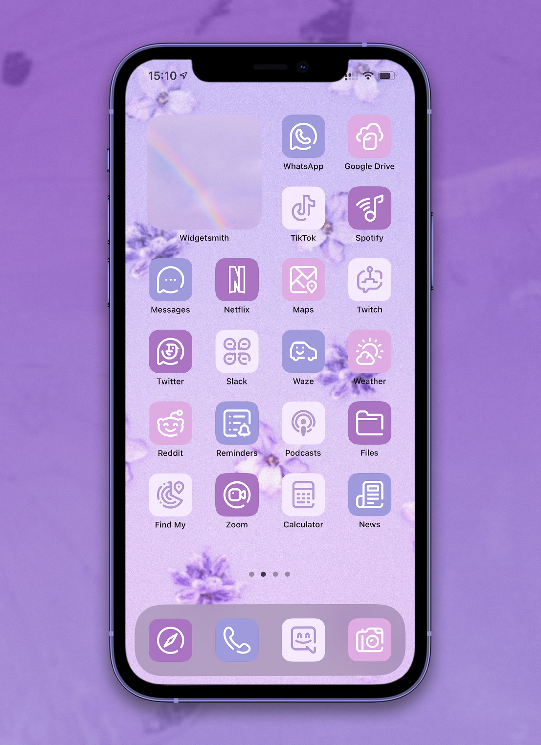 light lavender app icons pack preview 4