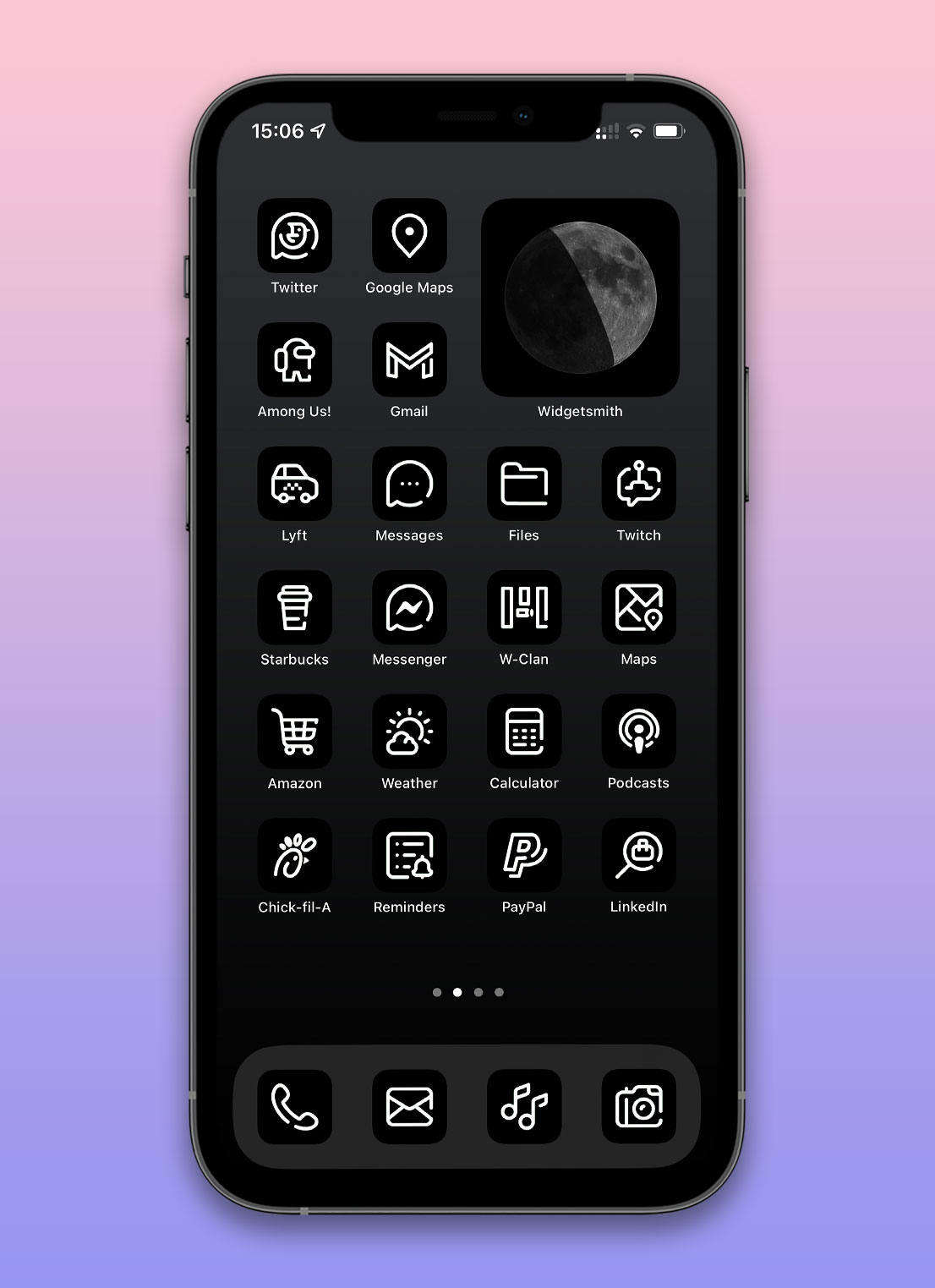 black and white app icons pack preview 4