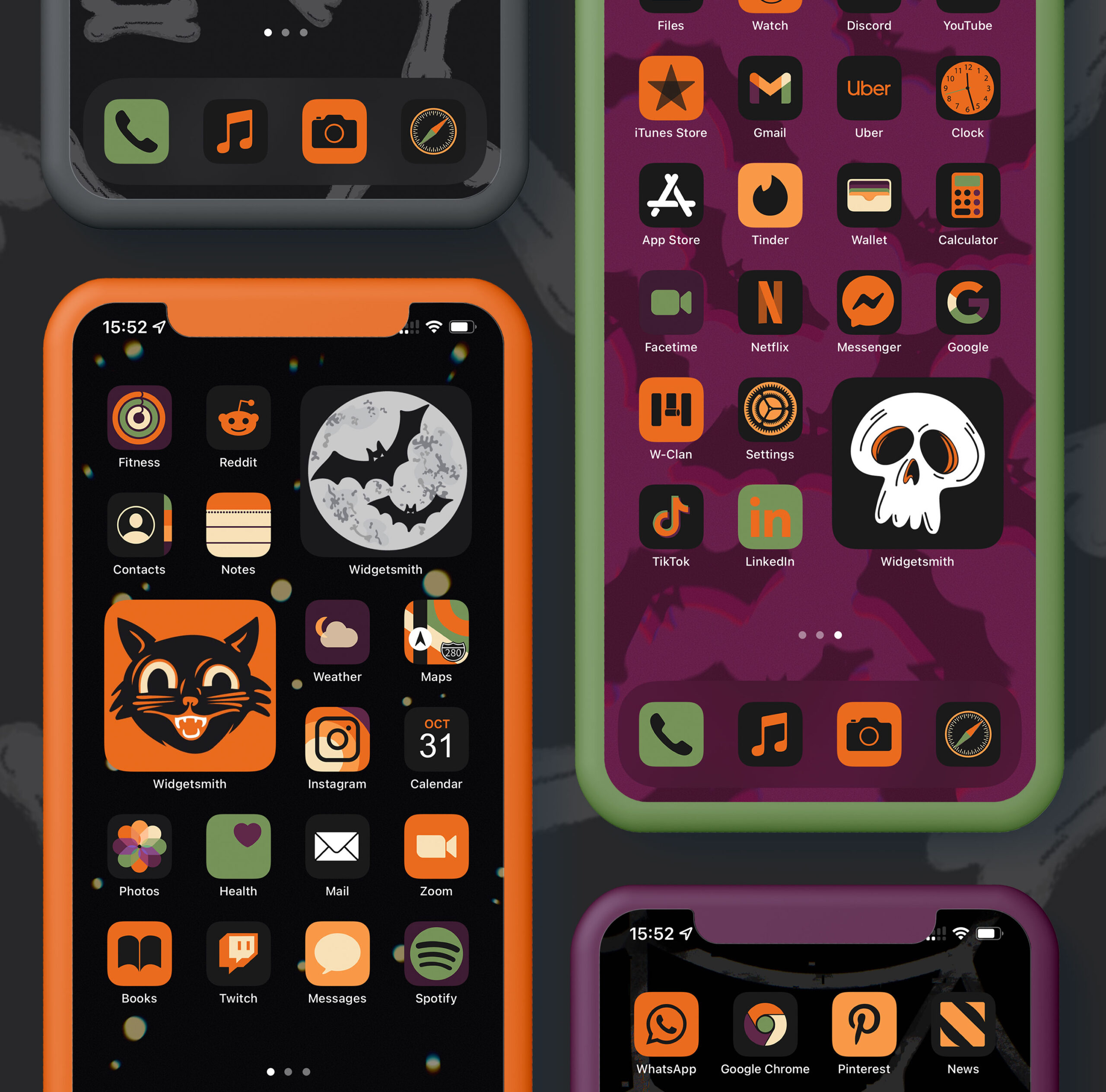 halloween minimalist app icons pack preview 1